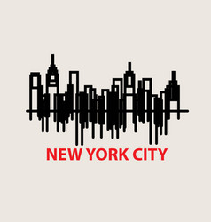 New york line vector