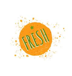 orange with text fresh vector image