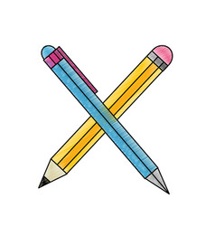 pen and pencil design vector image