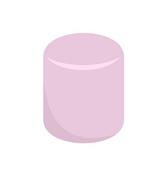 pink marshmallow icon flat style vector image