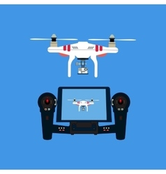 Quadcopter with camera vector