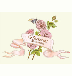 Rose colorful natural banner vector