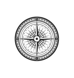 rose winds nautical compass navigator vector image