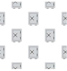 Safety deposit box pattern flat vector