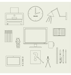 Set freelancer vector image