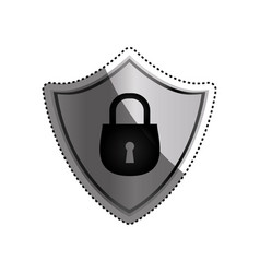 Shield security abstract padlock vector
