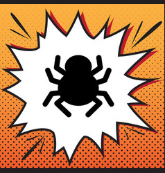 Spider sign comics style vector