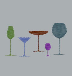 stylized pencil shading abstract drink background vector image