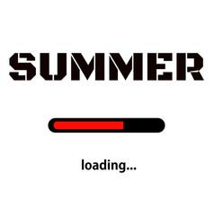 Summer is loading progress loading bar vector