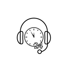 support non stop time icon vector image