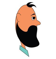 The beard a man or color vector