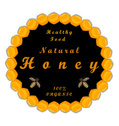 the theme honey vector image