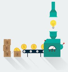 transform creative idea to money creative idea in vector image