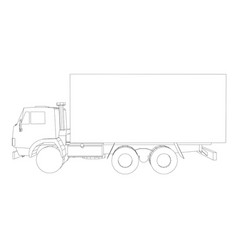 truck with cargo container transportation concept vector image