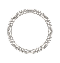 Truss circle outline vector