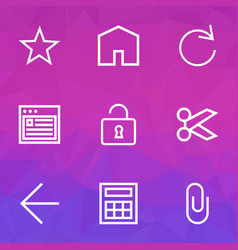 User outline icons set collection of house vector