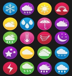 weather effect icon gradient style vector image
