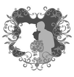 Wedding couple 13 vector image