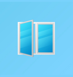 window colorful icon or element on blue vector image