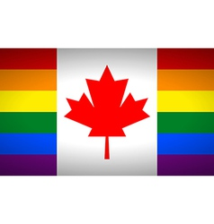 Canada Gay flag vector image