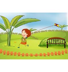 Cartoon Kite boy vector image vector image