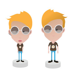 characters female and male vector image vector image