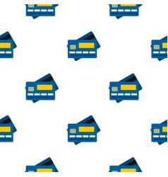credit card pattern flat vector image vector image