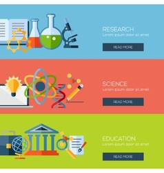 Flat design concepts for research science vector image vector image