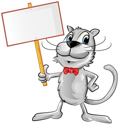 funny cat cartoon vector image
