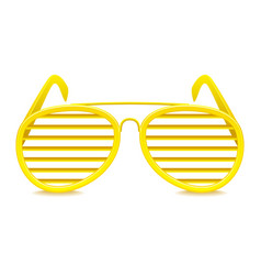 shutter shades sunglasses isolated on white vector image vector image