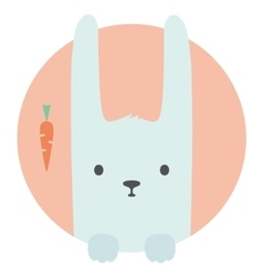 Animal set Portrait in flat graphics - Hare vector image vector image