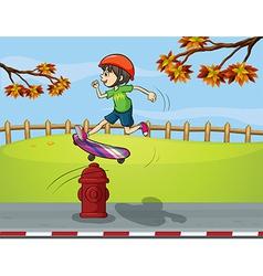 Cartoon Skater boy vector image vector image