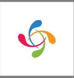 circle colorful splash logo vector image