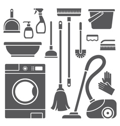 Cleaning symbols vector image vector image