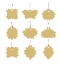 Paper tags collection isolated on white background vector image vector image