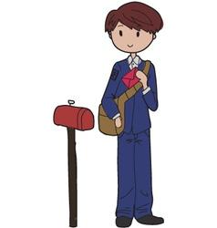 postman vector image vector image