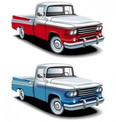 retro American pickup vector image vector image