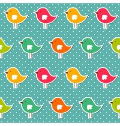 Seamless birds pattern vector image