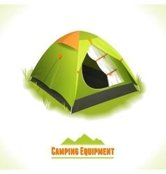 Camping symbol tent vector