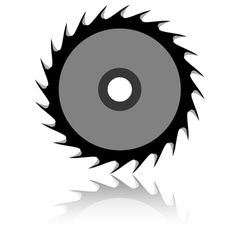 Circular saw blade on a white background vector image vector image
