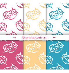 cute small bird seamless repeat pattern vector image vector image