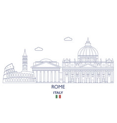 Rome city skyline vector