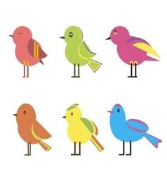 Set Color Birds vector image vector image