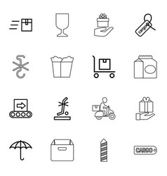 16 package icons vector image