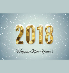 2018 happy new year snow backgroundmerry vector image