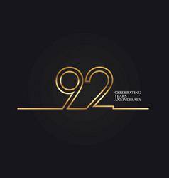 92 years anniversary vector image