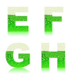 alphabet green beer EFGH vector image