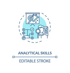 Analytical skill concept icon vector