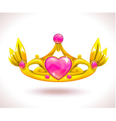 Beautiful golden princess crown vector