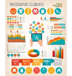 Big set of Shopping infographics elements vector